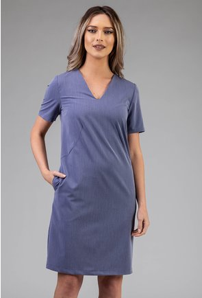 Rochie cu buzunare nuanta albastru deschis