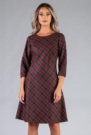 Rochie cu imprimeu in carouri