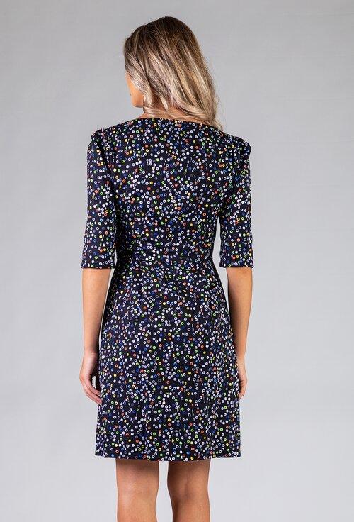 Rochie din bumbac cu imprimeu abstract