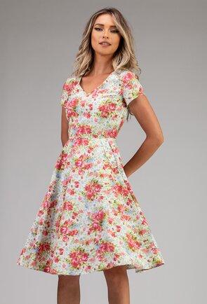 Rochie din bumbac cu imprimeu floral