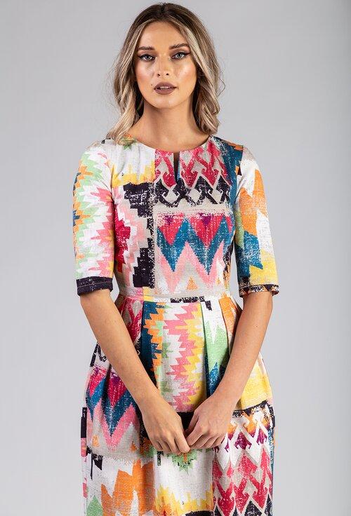 Rochie din bumbac multicolora