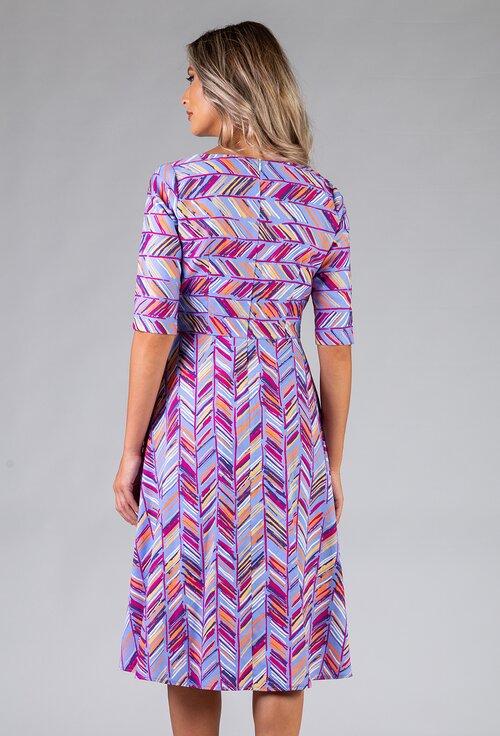 Rochie din bumbac organic cu imprimeu abstract