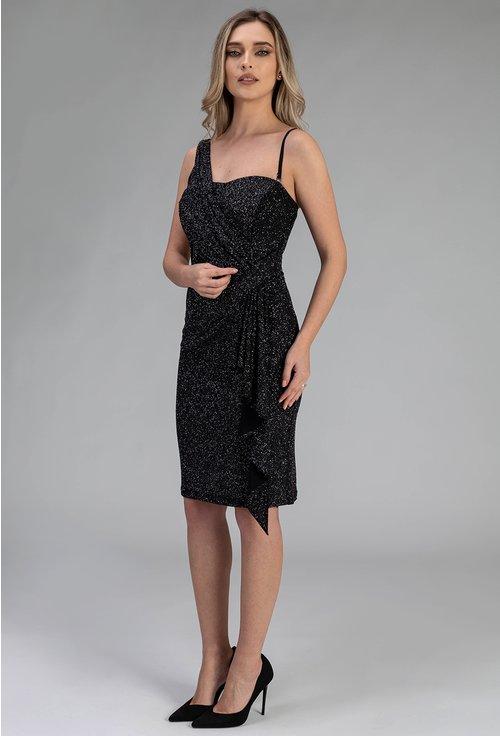 Rochie eleganta mulata pe corp cu insertii sclipitoare