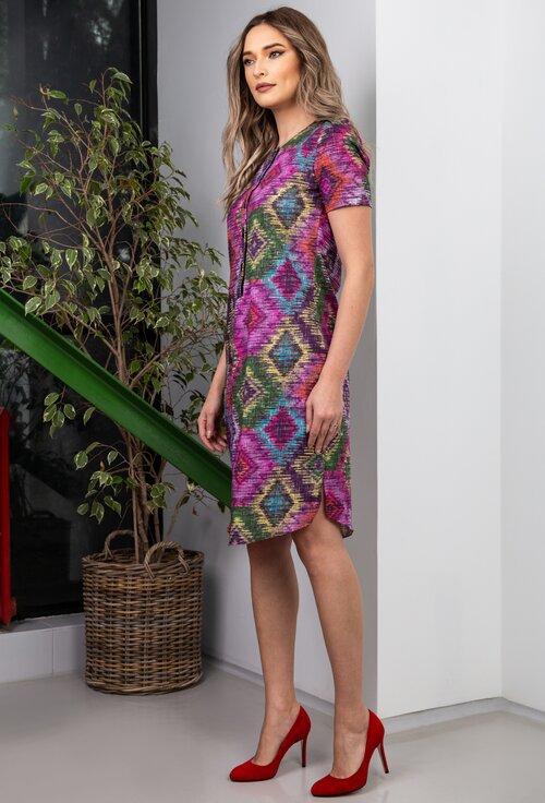 Rochie multicolora confectionata din bumbac organic