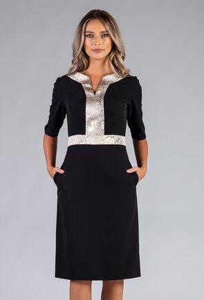 Rochie neagra prevazuta cu buzunare