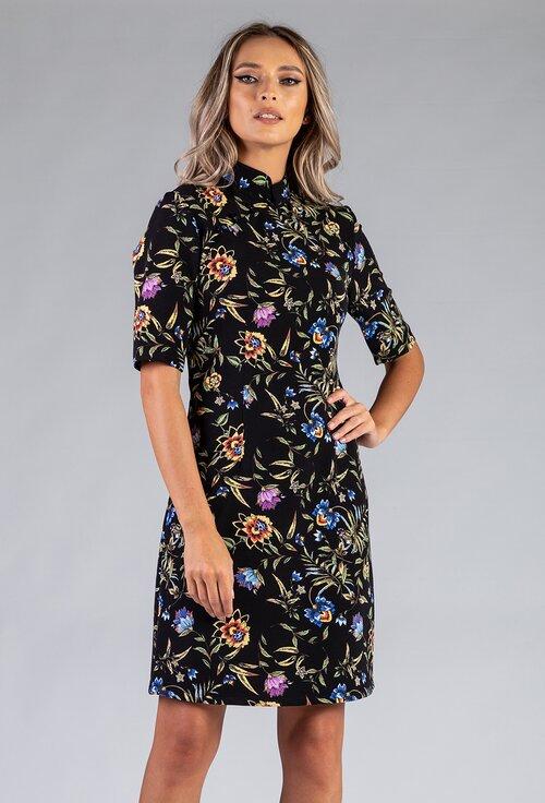 Rochie tip chimono cu imprimeu floral