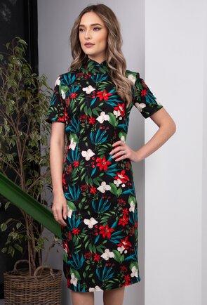 Rochie tip chimono cu imprimeu floral colorat