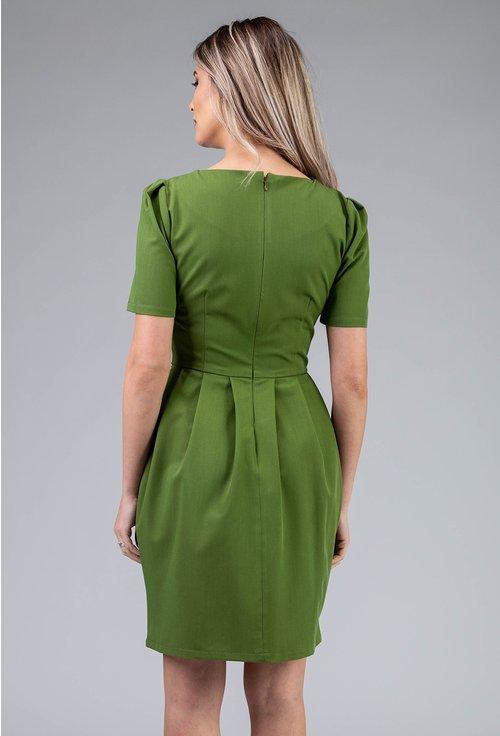 Rochie verde cu jabou