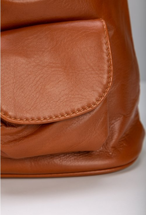 Rucsac din piele naturala nuanta maro aluna