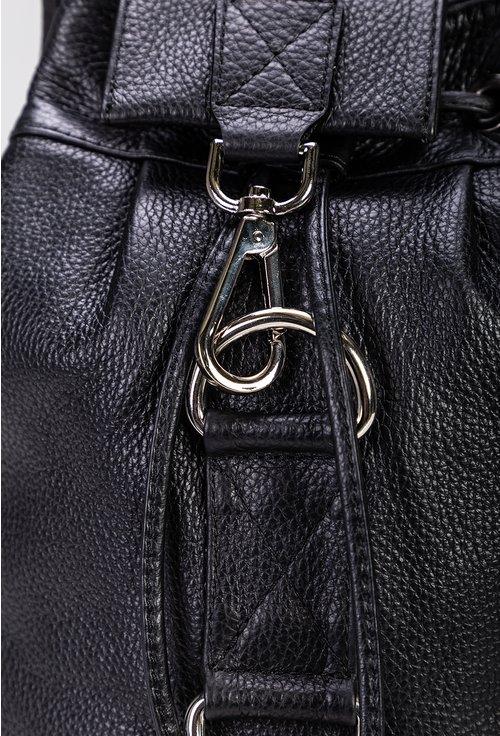Rucsac negru cu sistem de inchidere carabina