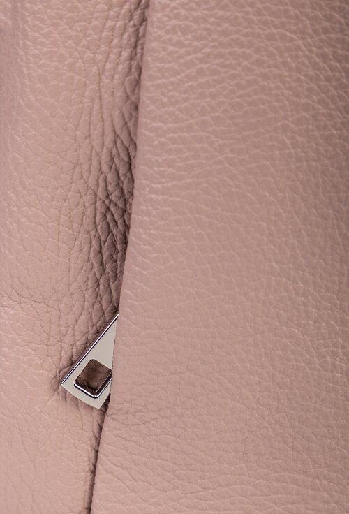 Rucsac roz pal din piele naturala