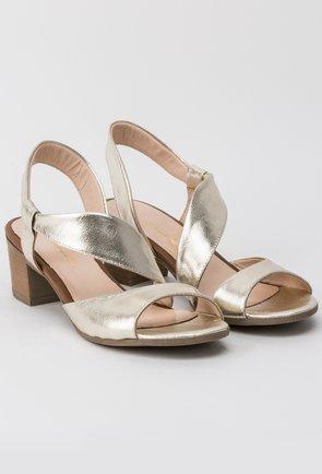 Sandale aurii din piele naturala Corelia
