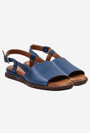 Sandale bleumarin din piele naturala