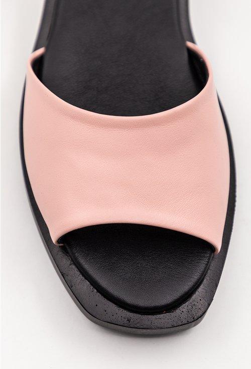 Sandale din piele naturala in nuante de bleu cu roz