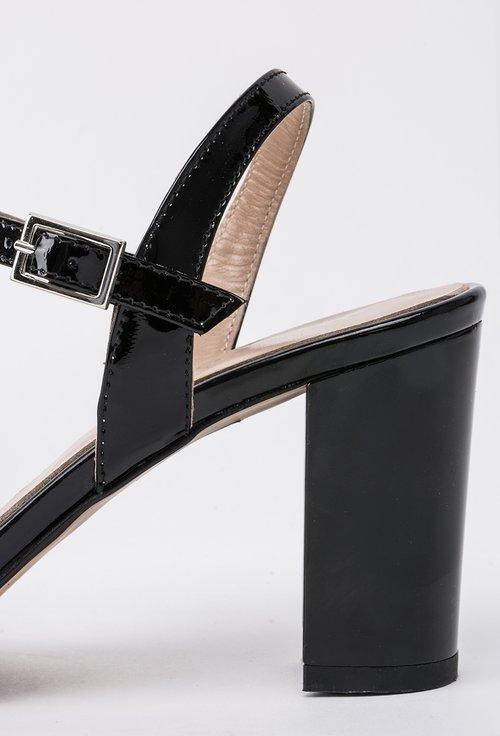 Sandale negre din piele naturala Martyn