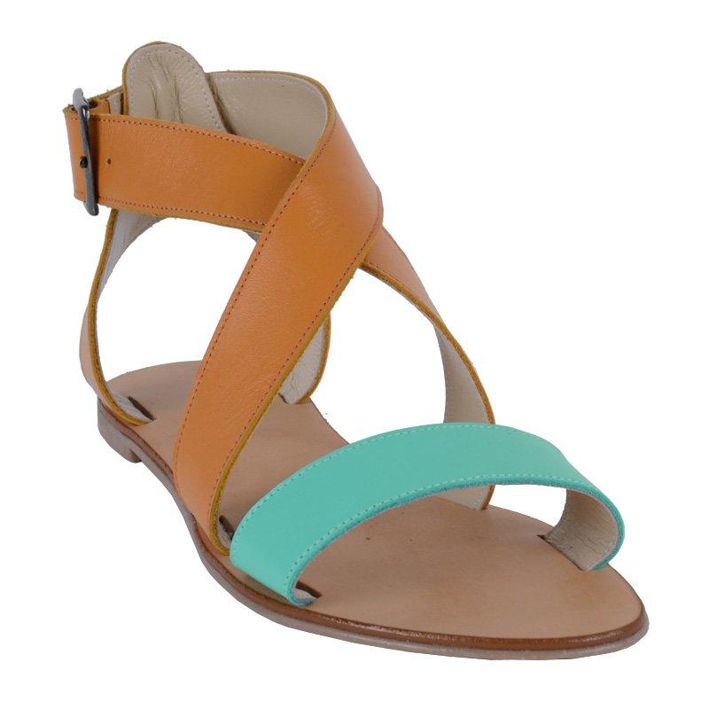 Sandale fara toc piele naturala Divas