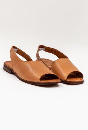 Sandale maro din piele naturala