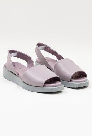 Sandale nuanta lila deschis din piele naturala