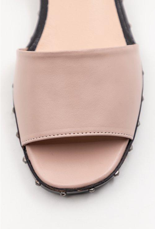 Sandale roz pal cu tinte din piele naturala Mila