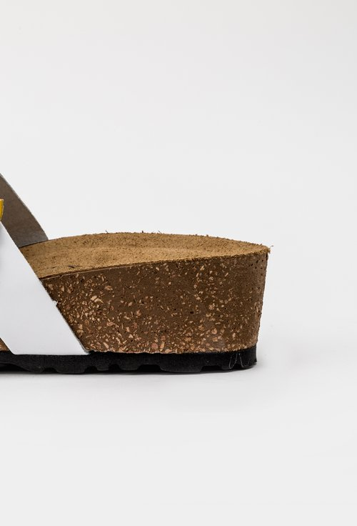 Sandale tip papuc din piele naturala cu flori galbene Daiana