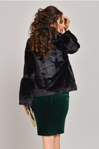 Blanita neagra eleganta cu maneci clopot