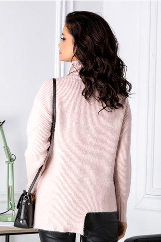 Bluza Accola roz prafuit asimetrica