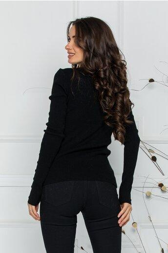 Bluza Alexa neagra cu textura striata