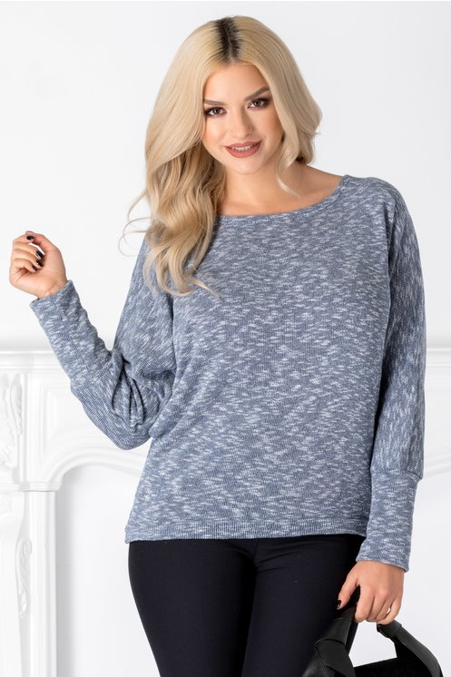Bluza Amalia bleu din tricot