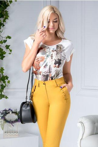 Bluza Amalia casual cu imprimeu modern