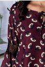 Bluza Ariana bordo cu imprimeu floral