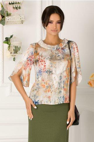Bluza Arlena casual cu imprimeu in degrade