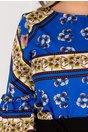 Bluza Avery albastra cu imprimeuri florale