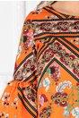 Bluza Avery orange cu imprimeuri florale