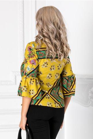 Bluza Avery vernil cu imprimeuri florale