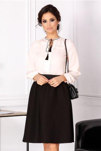 Bluza Aziza roz cu ciucurei