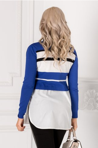 Bluza Beauty cu dungi albastre