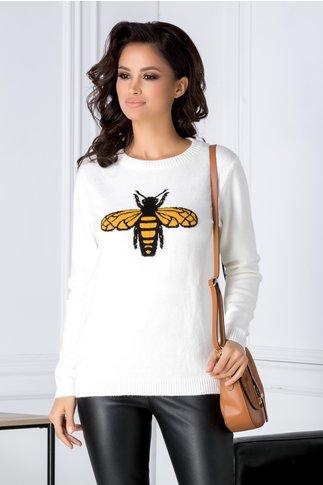 Bluza Bee alba cu albinuta