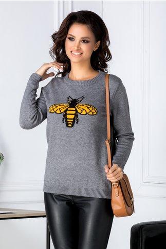 Bluza Bee gri cu albinuta