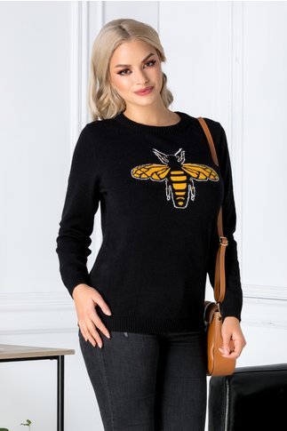 Bluza Bee neagra cu albinuta