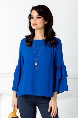 Bluza Bell albastra vaporoasa