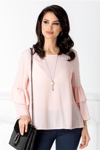 Bluza Bell roz pal vaporoasa