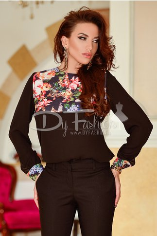 Bluza Black Flowers Ends