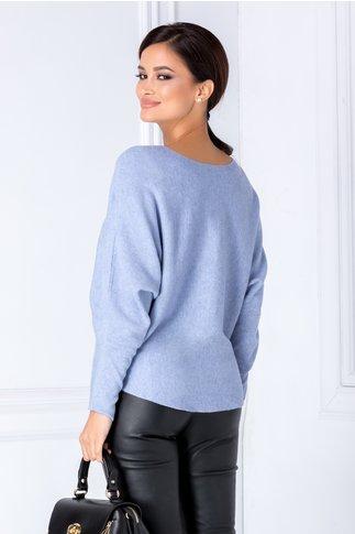 Bluza bleu cu bufnita din strasuri