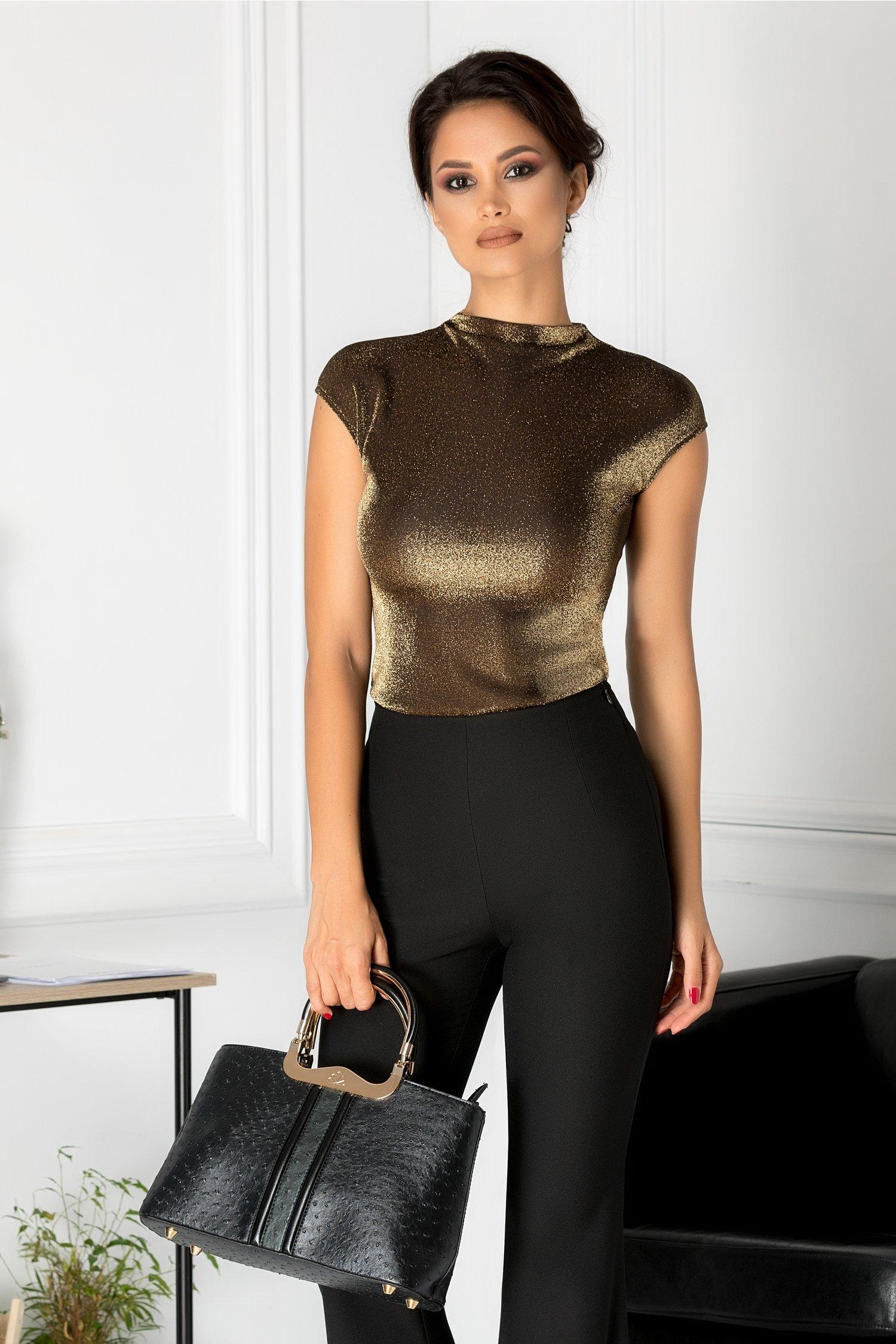 Bluza Brise eleganta cu fir auriu