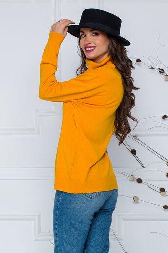 Bluza Cami galben mustar cu guler maxi