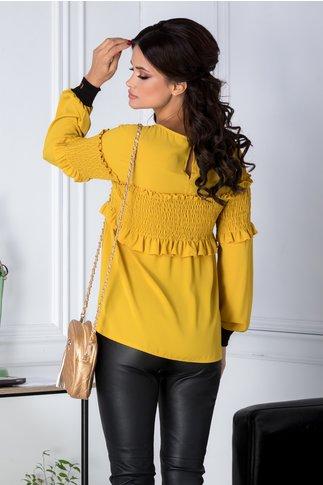 Bluza Camilla galbena casual