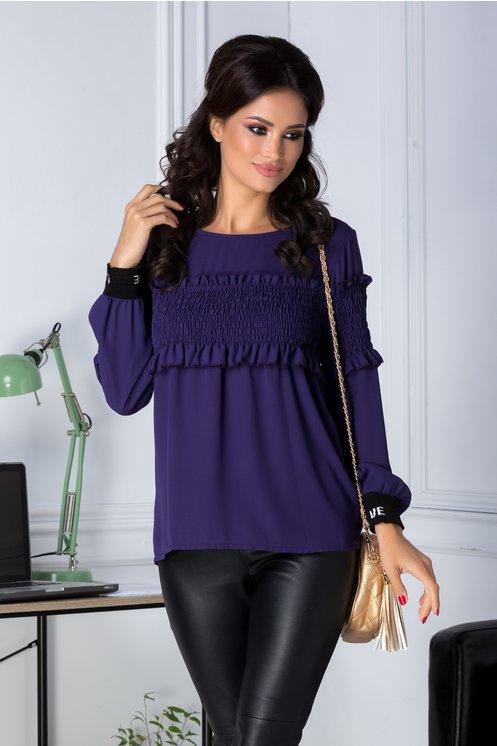 Bluza Camilla mov casual