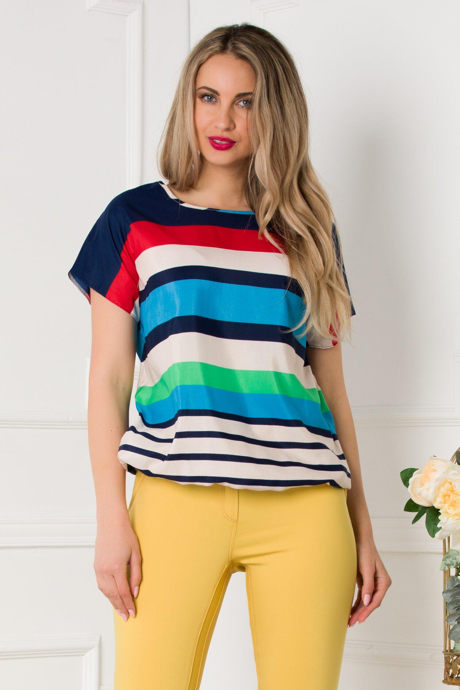 Bluza Carla cu dungi multicolore