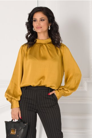 Bluza Carrie galben mustar eleganta