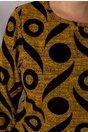 Bluza Cary galben mustar cu insertii catifelate
